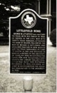 A clean historical marker