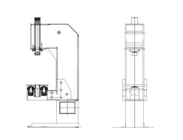 THD41-10s 100KN C-FRAME HYDRAULIC PRESS FOR ASSEMBLING-C
