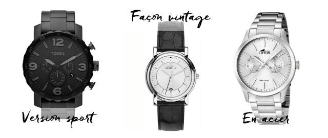 sélection montres homme