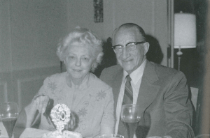 "Leota and Talbert ""Ted"" at their 50th wedding anniversarry, January 15, 1973"