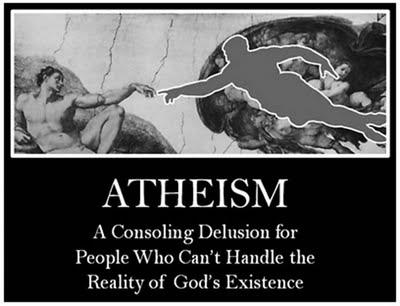 atheism, atheist, delusion