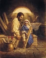 Saint Joseph and Christ