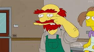 Groundskeeper Willie Weeping