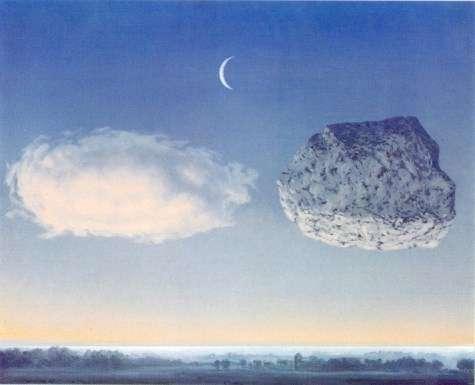 bacio tra nuvole: acqua e pietra. (la battaglia delle Argonne di Magritte)