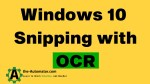Window Snipping with OCR
