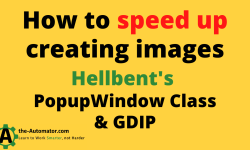 How to speed up creating images with Hellbent