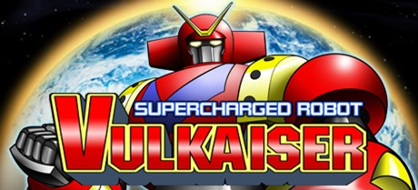 Let's head back to the 70's where giant robots have to save the Earth from invading forces. Or it's just 70's anime style. Either way, that's Supercharged Robot VULKAISER! Logo
