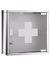 Lockable medicine cabinet for the bathroom