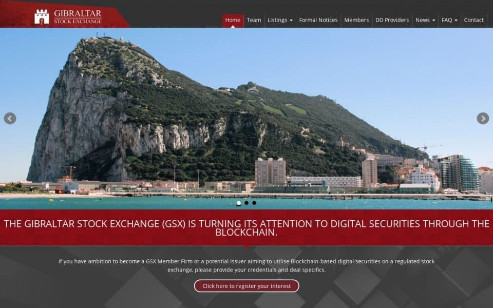 Gibraltar Stock Exchange Opens the Doors to Secondary Market for Security Tokens