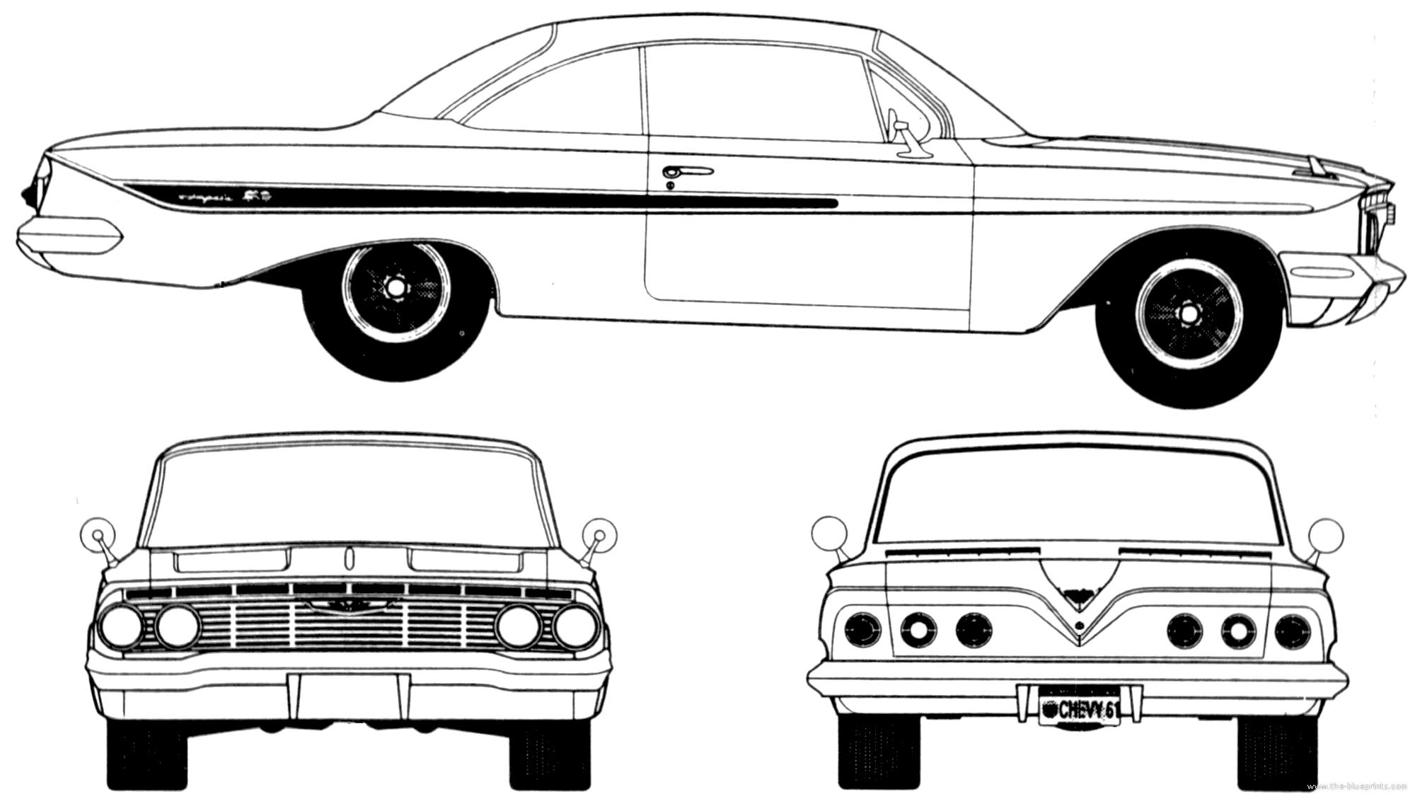 Blueprints Gt Cars Gt Chevrolet Gt Chevrolet Impala Sport Coupe