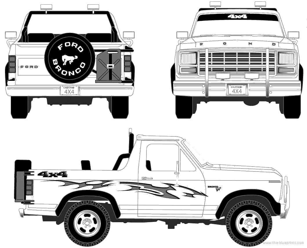Blueprints Gt Cars Gt Ford Gt Ford Bronco