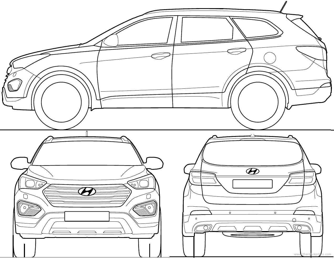 Blueprints Gt Cars Gt Hyundai Gt Hyundai Grand Santa Fe