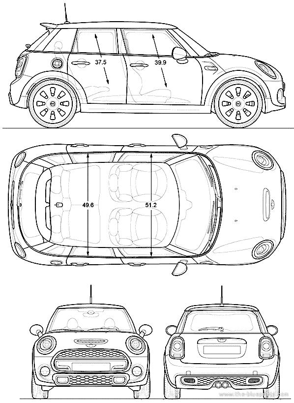 Blueprints Gt Cars Gt Mini Gt Mini Cooper 4 Door 2015