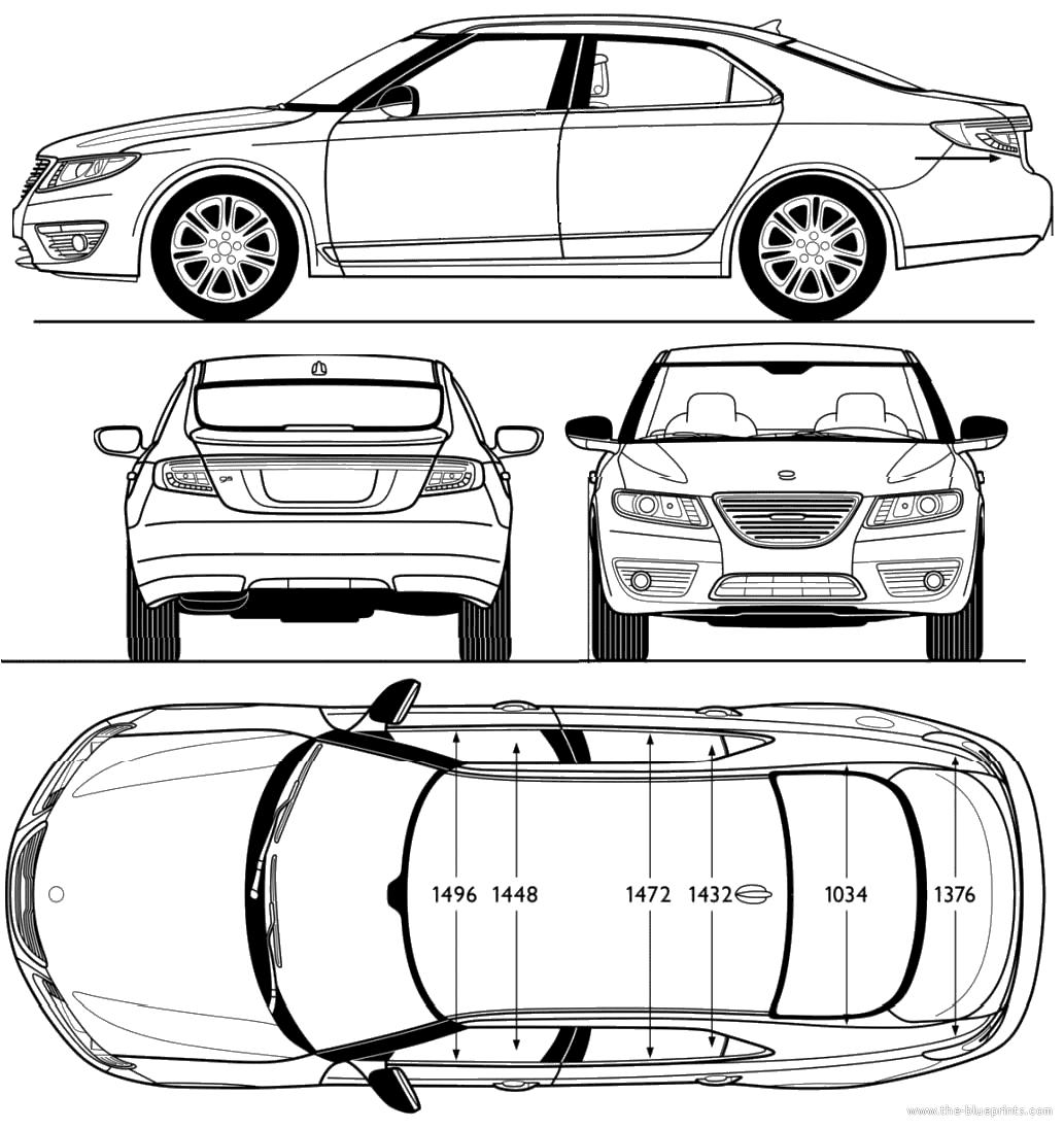 Blueprints Gt Cars Gt Saab Gt Saab 9 5