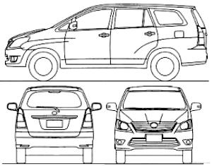 Blueprints > Cars > Toyota > Toyota Innova (2015)