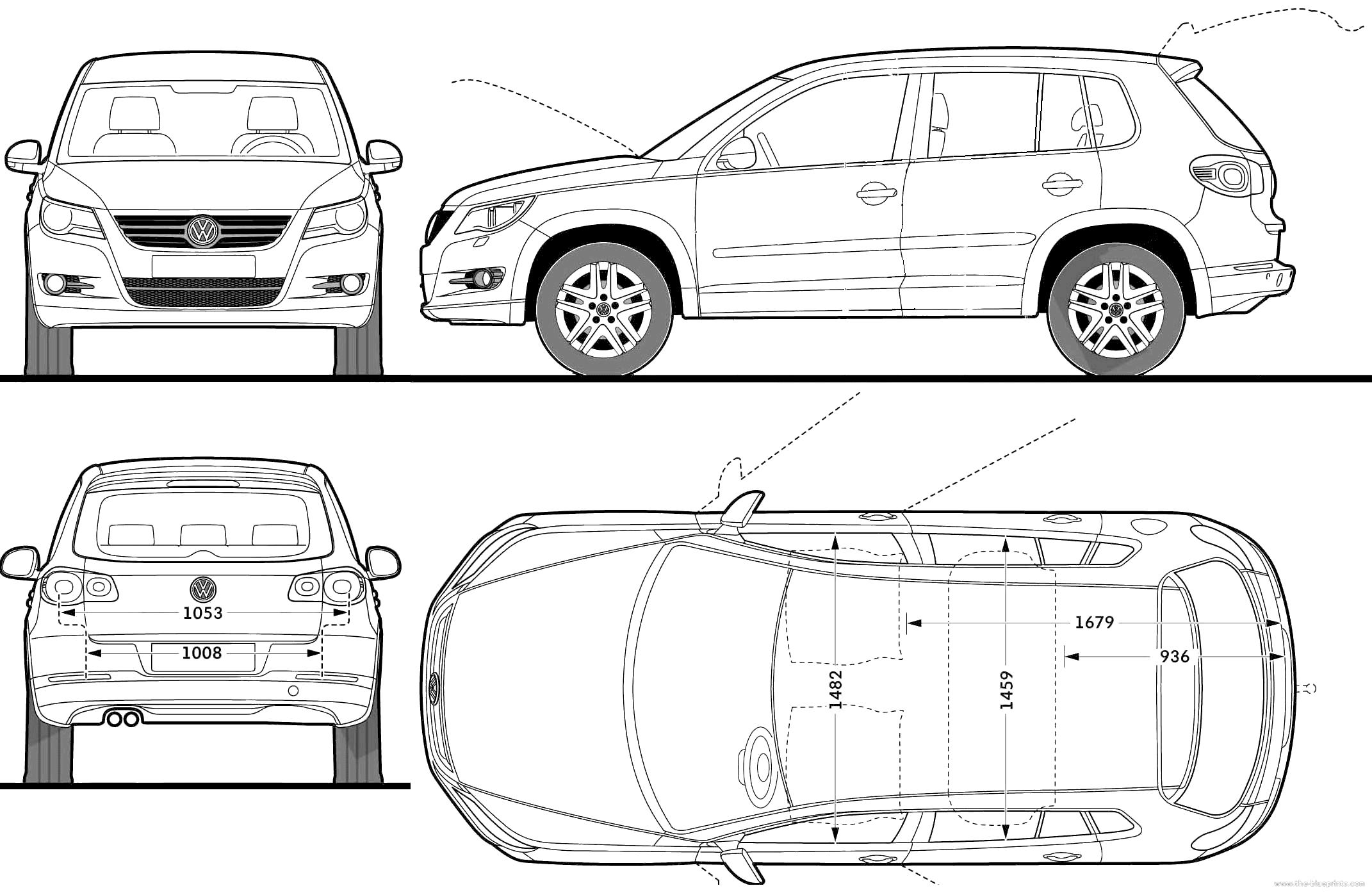 Blueprints Gt Cars Gt Volkswagen Gt Volkswagen Tiguan Trend