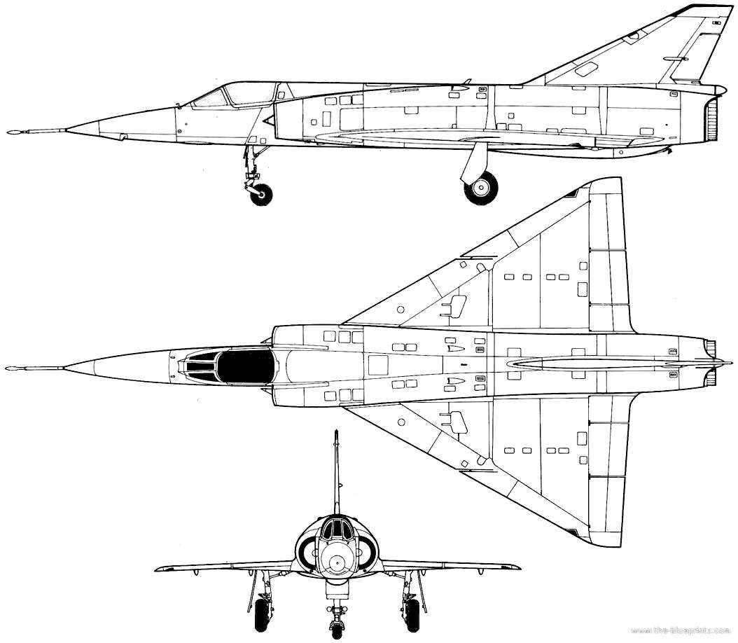 Blueprints Gt Modern Airplanes Gt Dassault Gt Dassault Mirage 5