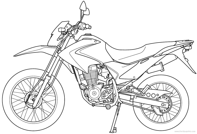 Blueprints Gt Motorcycles Gt Honda Gt Honda Cg 125 Bros