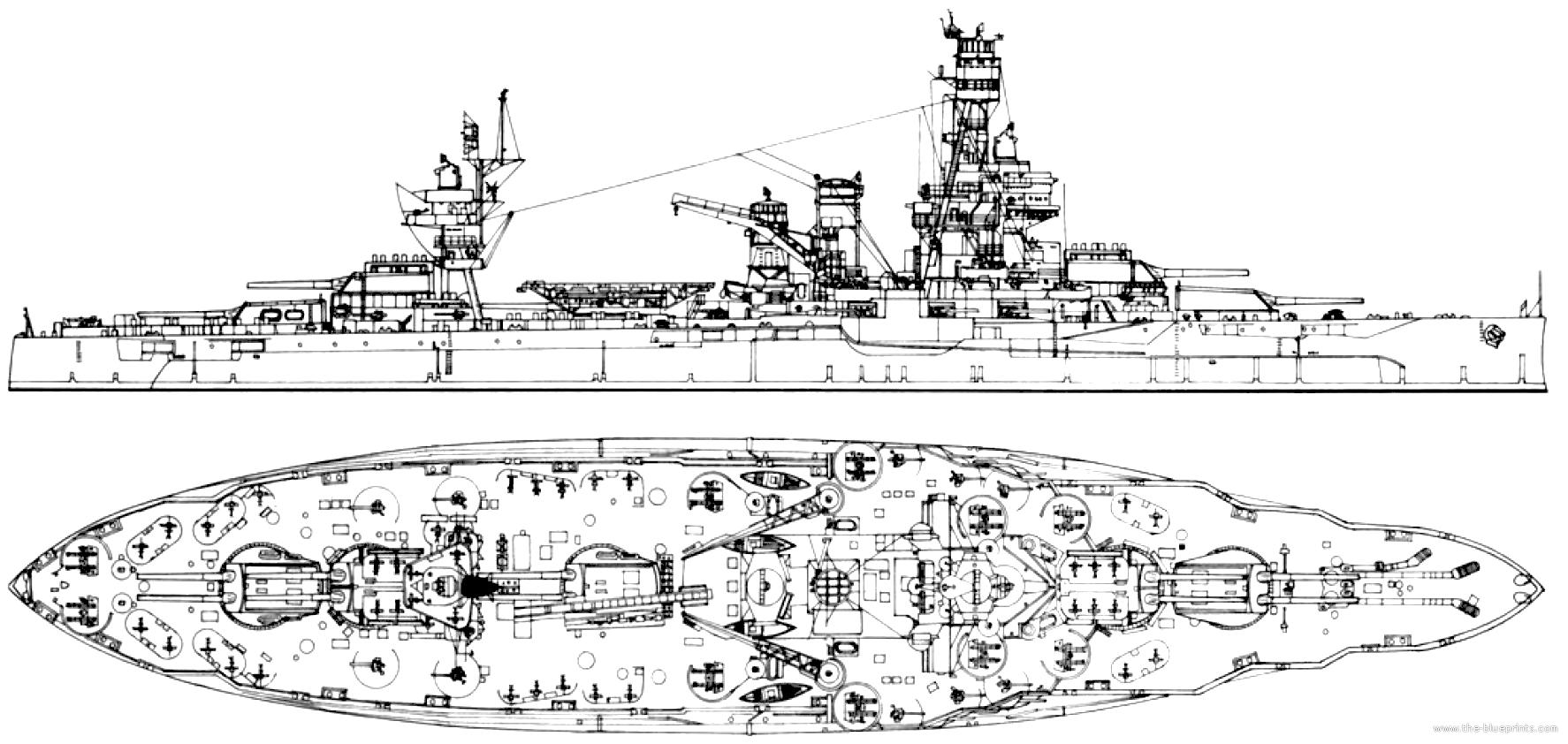 Blueprints Gt Ships Gt Battleships Us Gt Uss Bb 35 Texas