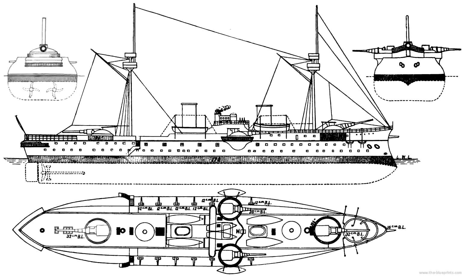 Blueprints Gt Ships Gt Ships Spain Gt Sns Pelayo