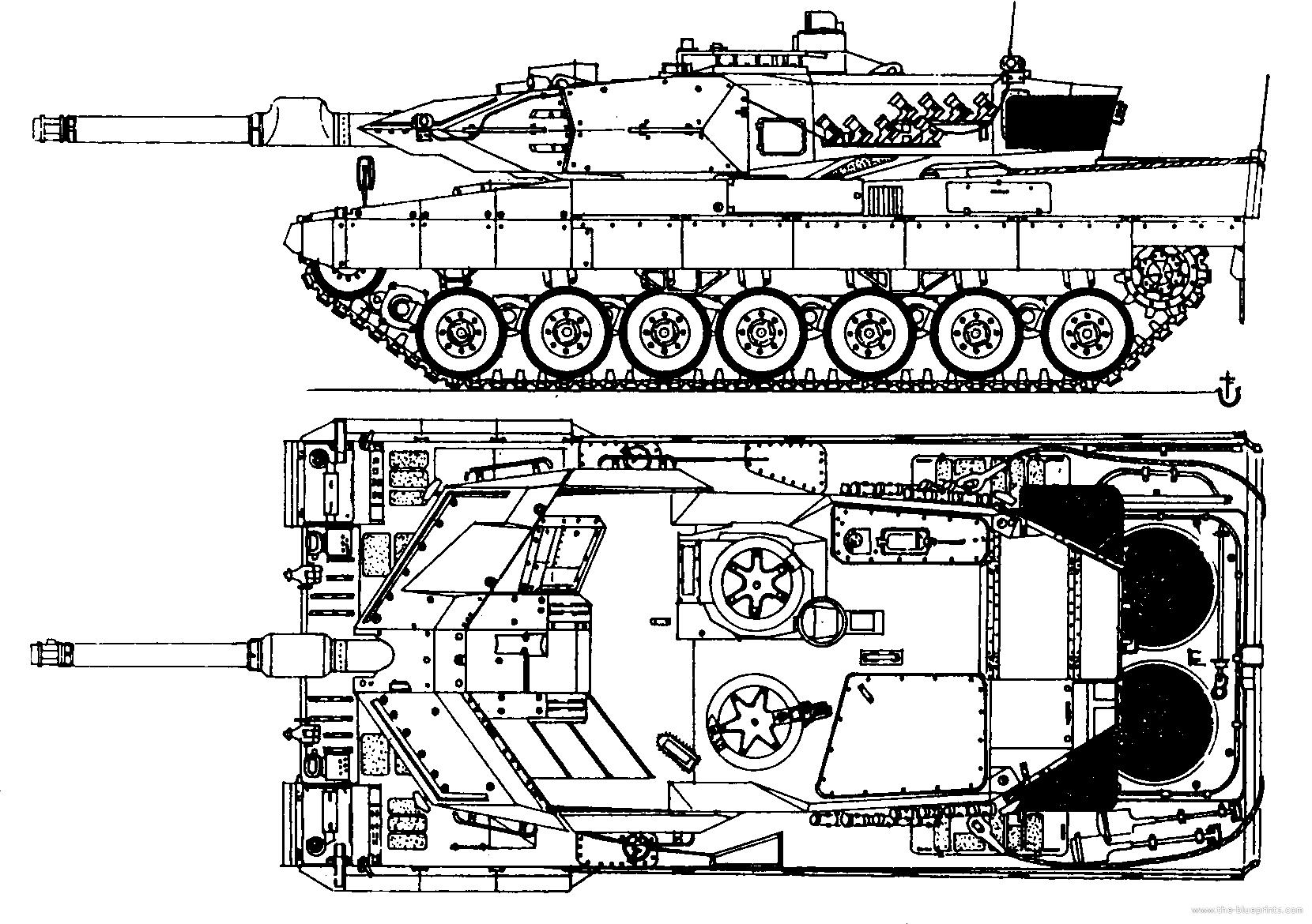 Blueprints Gt Tanks Gt Tanks K L Gt Leopard 2a5