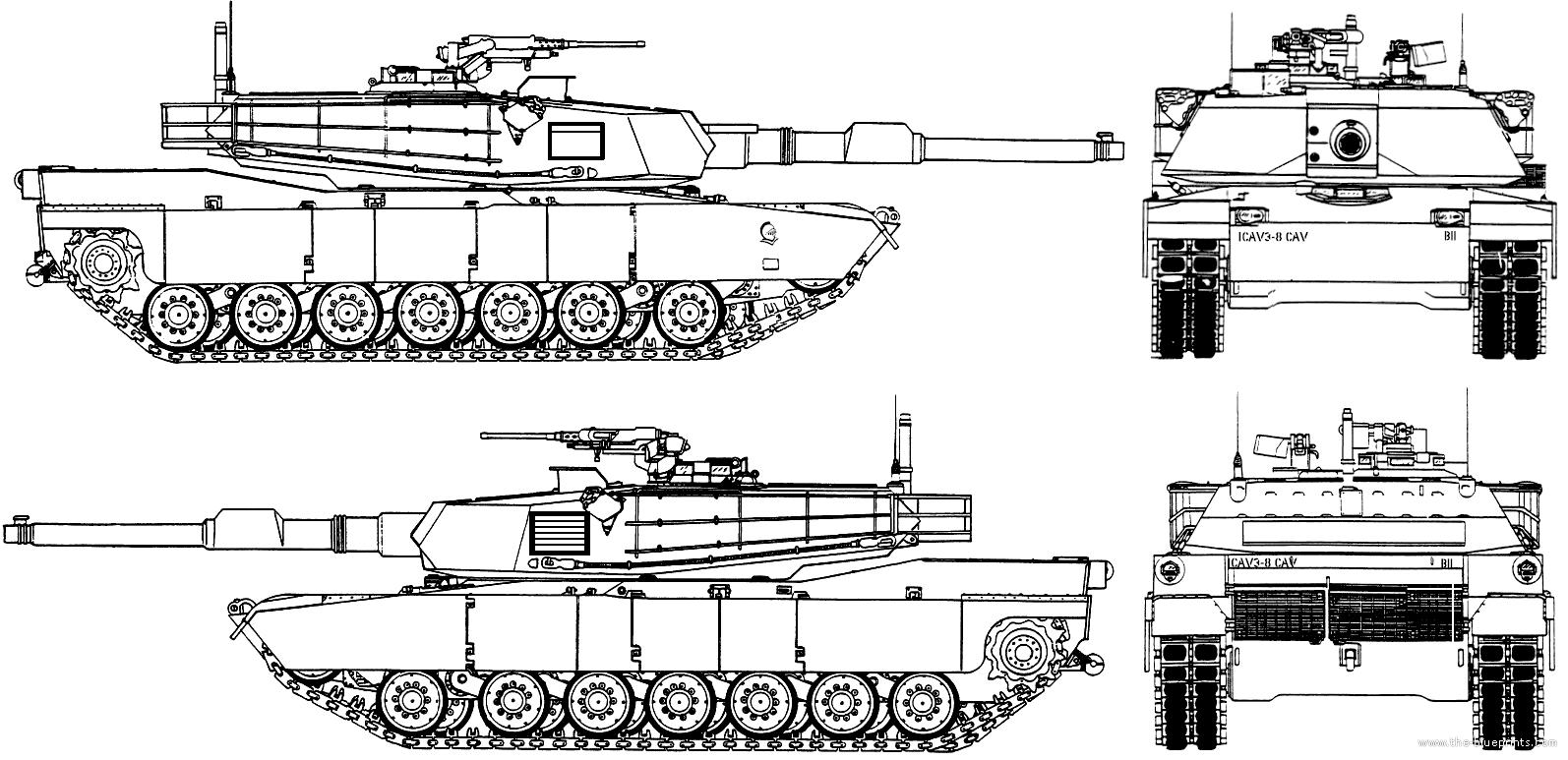 Blueprints Gt Tanks Gt Tanks M Gt M1a2 Abrams