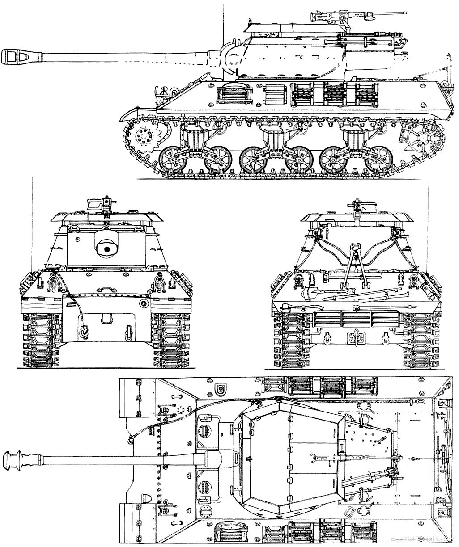 Blueprints Gt Tanks Gt Tanks M Gt M36b2 Jackson 90mm Tank