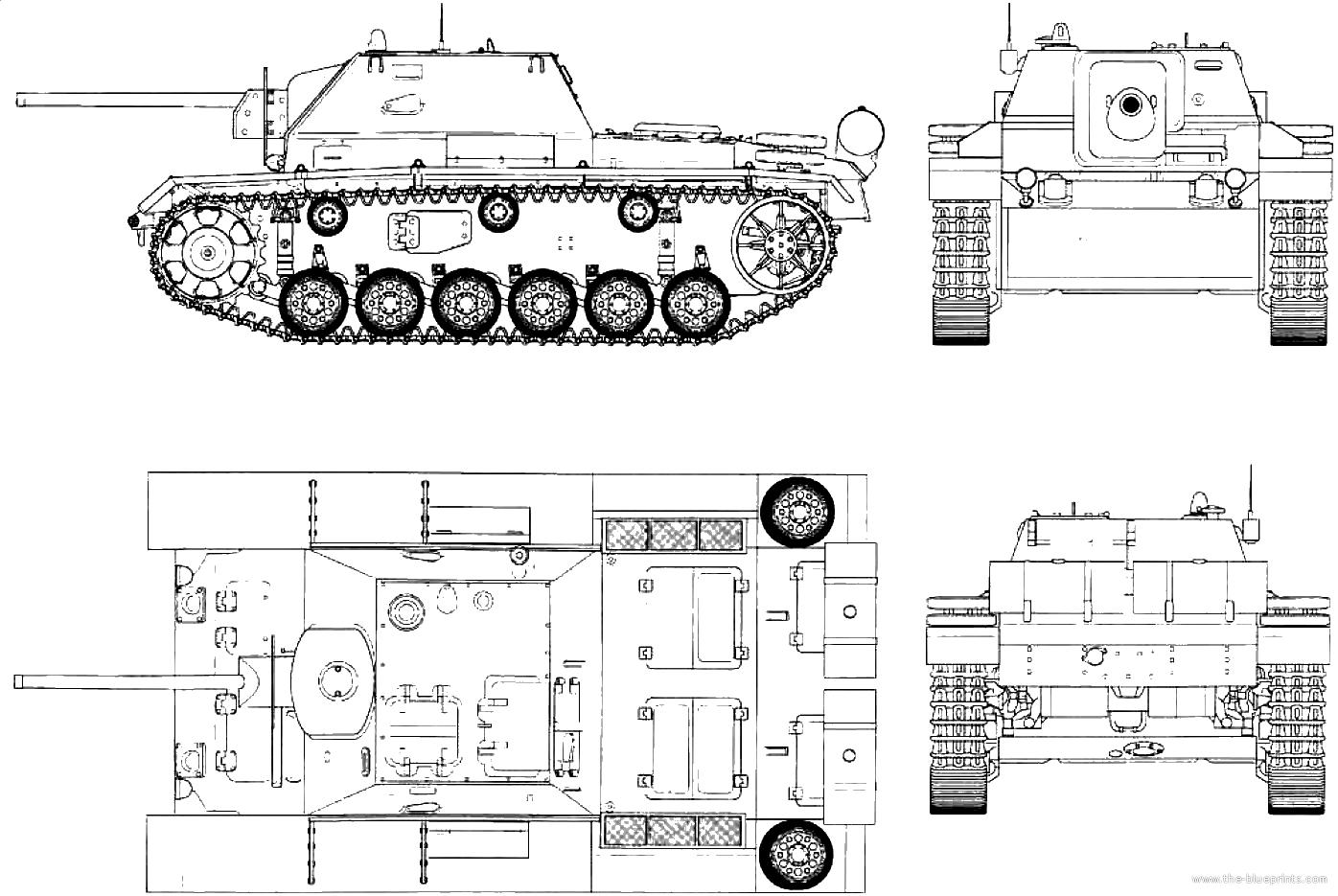 Blueprints Gt Tanks Gt Tanks S Gt Su 76i