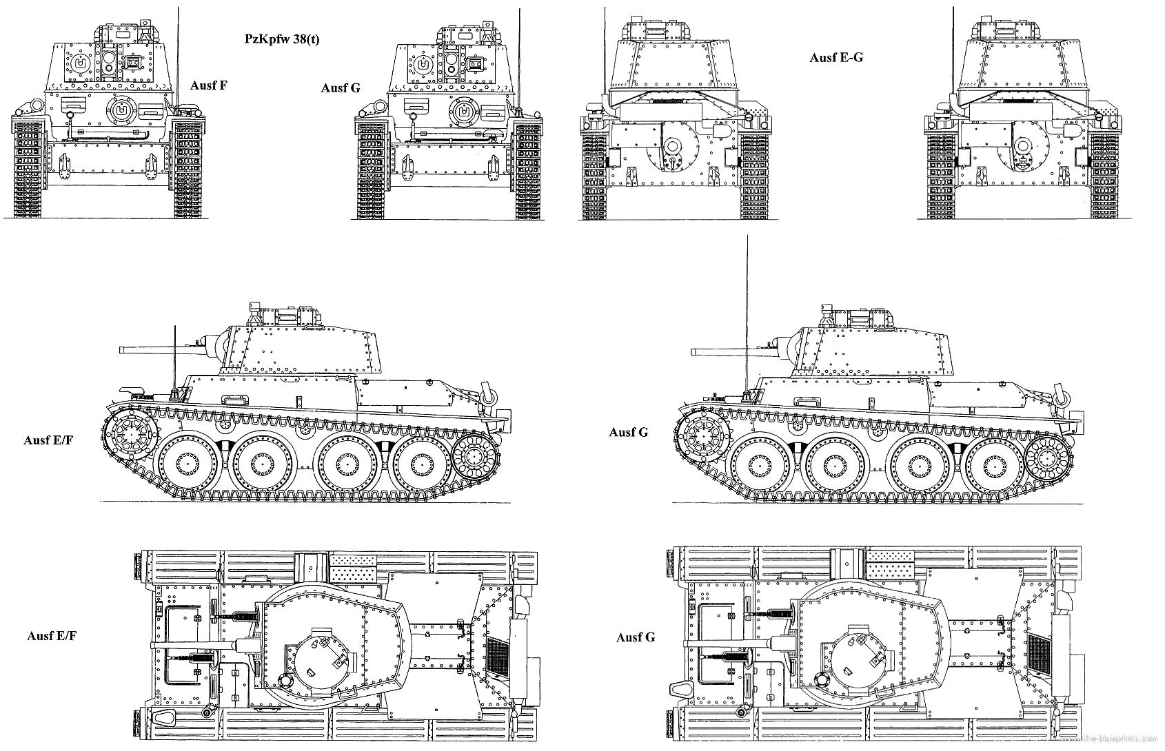 Blueprints Gt Tanks Gt Ww2 Tanks Germany 1 Gt Pzfw 38