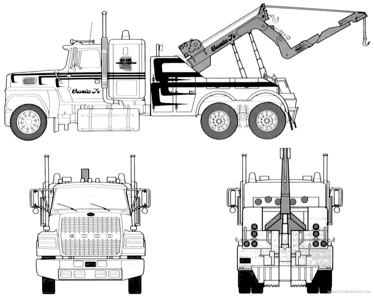 Blueprints Gt Trucks Gt Ford Gt Ford L Wrecker Truck