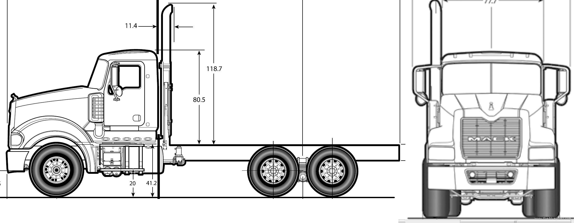 Blueprints Gt Trucks Gt Mack Gt Mack Titan