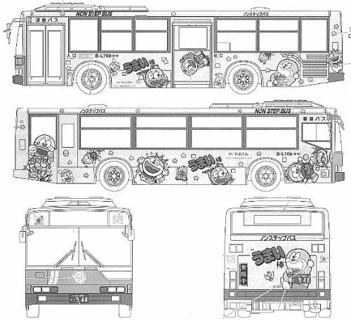 Blueprints > Buses > Mitsubishi-Fuso > Mitsubishi Fuso