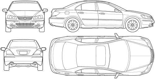 Blueprints > Cars > Acura > Acura RL (2005)
