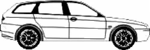 Blueprints > Cars > Alfa Romeo > Alfa Romeo 156 Sportwagon
