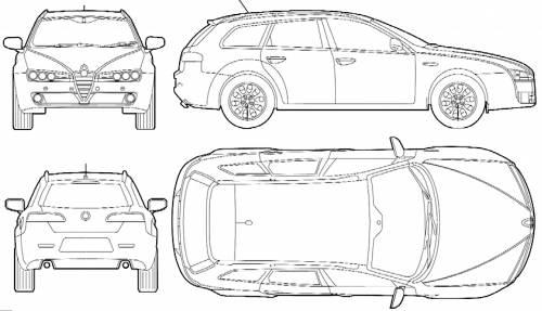 Blueprints > Cars > Alfa Romeo > Alfa Romeo 159 Sportwagen