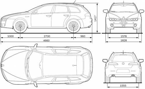 Blueprints > Cars > Alfa Romeo > Alfa Romeo 159 Sportwagon