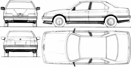 Blueprints > Cars > Alfa Romeo > Alfa Romeo 164 (1990)