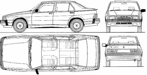 Blueprints > Cars > Alfa Romeo > Alfa Romeo 75 1.8 Turbo