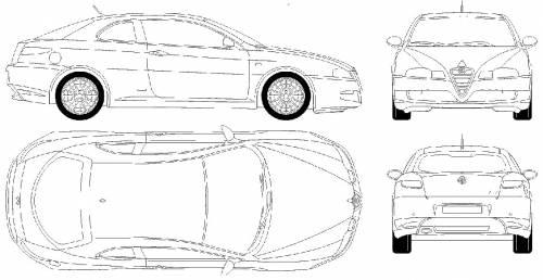 Blueprints > Cars > Alfa Romeo > Alfa Romeo GT (2004)