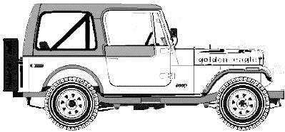 Jeep Cj7 Drawing