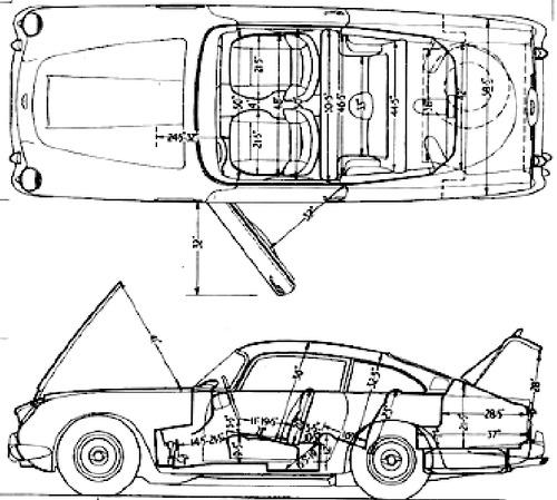 Blueprints > Cars > Aston Martin > Aston Martin DB5 (1964)
