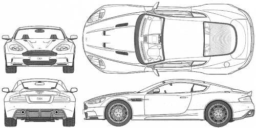 Blueprints > Cars > Aston Martin > Aston Martin DBS (2008)