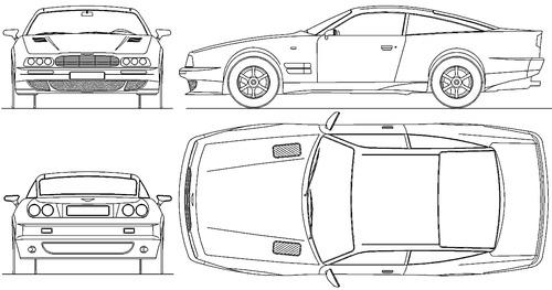 Blueprints > Cars > Aston Martin > Aston Martin Virage (1990)