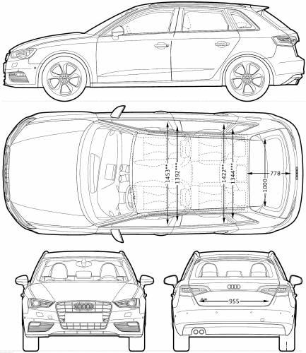 Blueprints > Cars > Audi > Audi A3 Sportback (2013)