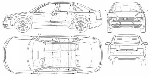 Blueprints > Cars > Audi > Audi A4 (2004)