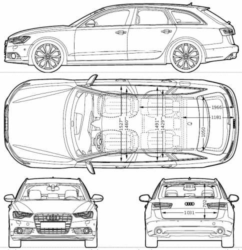 Blueprints > Cars > Audi > Audi A6 Avant (2013)