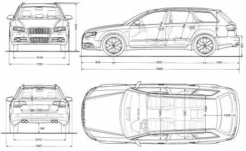 Blueprints > Cars > Audi > Audi S4 Avant (2005)