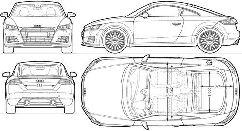 Blueprints > Cars > Audi > Audi TT (2014)