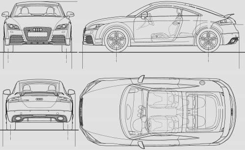 Blueprints > Cars > Audi > Audi TT RS (2010)