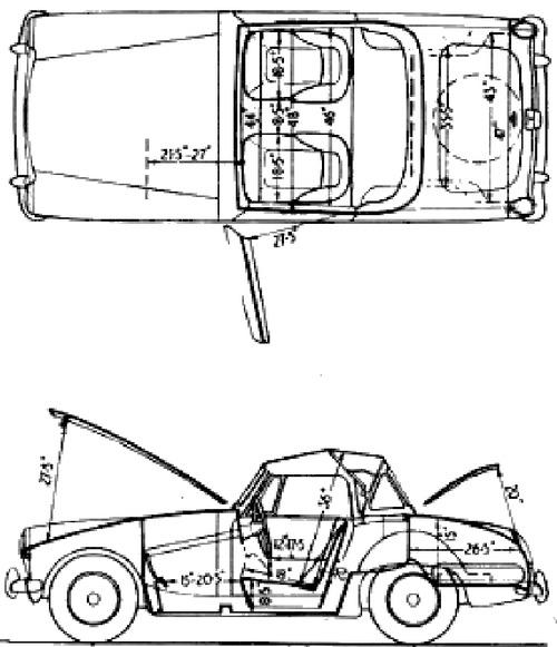 Blueprints > Cars > Austin > Austin Healey Sprite Mk III